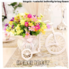 Artificial Flower with Rattan Plaited Bicycle