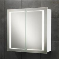 LED Aluminium Bathroom Mirror Cabinet with Touch Sensor & Defogger