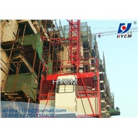 SC100 Building Construction Hoist Single Cage 1000kg Elevator