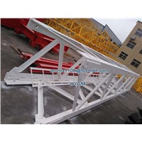 New 6TONS Load 40m Lifting Arm D80 QTD4015 Construction Luffing Tower Crane