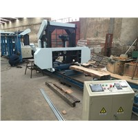 Electric Saw! Horizontal Band Saw Mobile Sawmill for Cutting Wood into Planks