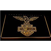 LS602-y Harley Davidson Motor Cycles Neon Light Sign