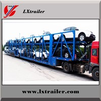 2 Double Axles 16meters 8 Units Transporting SUV Car Carrier Semi Trailer