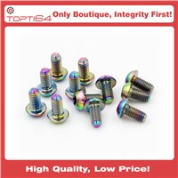 Rainbow Color Titanium M5x10mm Screws Disc Rotor Brake-T25 for Bicycles Bike Cycle