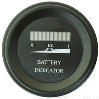 Round Battery Gauge Single LED Line 10 Bar LED Digital Battery Discharge Indicator