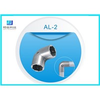 Aluminum Pipe Fitting 90 Degree Elbow Pipe Joint for OD 28mm Aluminum Pipe AL-2