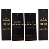 RFID Clothes Paper Tag, RFID Garments Paper Tag, RFID Apparels Paper Tag, RFID Clothing Security Paper Tag