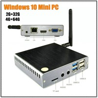 2017 New Metal Windows 10 Mini PC 2G + 32G 4G + 64G Intel Atom X5 Z8300 Quad Core WiFi Bluetooth Mini PC Computer
