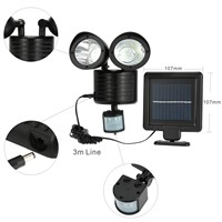 150LM 22 LED Solar Power Street Light PIR Motion Sensor Light Garden Security Lamp Outdoor Street Waterproof Wall Lights
