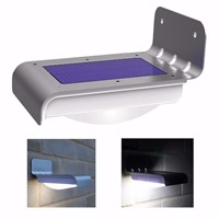 16 LED Solar Outdoor Light Panel Powered Motion Sensor LED Lamp Energy Saving Wall Lamp Solar Security Lights Garden