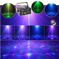 Remote RGB Laser Stage Lighting Mixing Effects DJ Home Party Show Full Color Professional Adjustable Club Bar