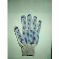 HOT! Knitted Thin Cotton PVC Safety & Industrial Gloves