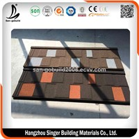 Environment Friendly Modern Solar Roofing Tile, Stone Coated Steel Roof Tile for Houses