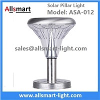 10 Inch 21LED Stainless Steel Solar Concrete Villa Fence Pillar Light Solar Stone Column Post Lamp China Manufacturer
