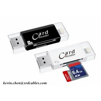 3 in 1 Card Reader Multi Function 8Pin Micro USB Micro SD Card SD Card Slot for iPhone 7 Android Computer