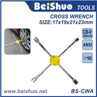 Heavy Duty Universal Lug Wrench 4-Way Cross Wrench