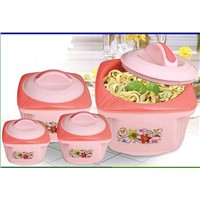 PLASTIC CASSEROLES HOTPOT, HOT POT FOOD FLASK, INSULATED FOOD WARMER