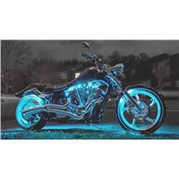 Motorcycle LED Night Rider Strip Kit 18 Colors RGB 10pcs Strips -with Remote Control