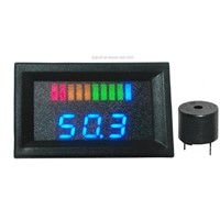 Battery Gauge with Buzzer 10 Bar LED Digital Battery Discharge Indicator