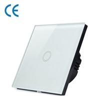 EU BS Standard 1 2 3 Gang 1 Way Glass Panel Touch Wall Light Switch