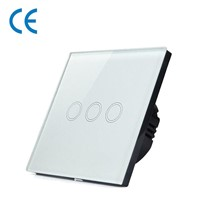 3-Gang Intelligent Sensitive Touch Control Light Switch White/Black/Golden