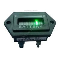 Hexagon Battery Gauge 10 Bar LED Digital Battery Discharge Indicator Meter