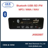 JK6826BT 12V Bluetooth Player USB FM Embedded MP3 Module
