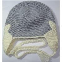 Hand Crochet Star Beanie in 100% Australian Wool