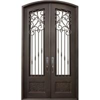 Eyebrow Arch Top Iron Door(JDL-1019)