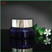 Small Cosmetic Glass Jars 15g Shoulder Slanted Glass Cosmetic Jars