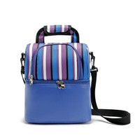 Striped Insulated Food Picnic Ice Cooler Tote Bag