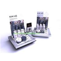 Acrylic Cosmetics Display/Counter, Customized Acrylic Counter LED Cosmetic Display