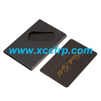 Promotion Gift Carbon Fiber Card Holders, Plain Weave Name Card Case/ Carbon Fiber Holder /Carbon Business