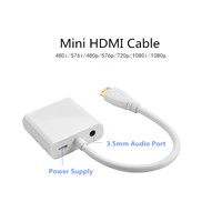 High Quality Mini HDMI to VGA Displayport Cable for Smartphone with Audio & Power Cable
