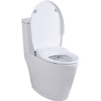 TOP Bathroom Sanitary Soft-Close Non-Electric Bide Toilet Seat with Dual Nozzles Sprayer
