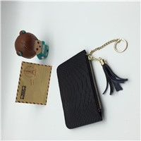 2017 New Crocodile Genuuine Cow Leather Short Female Wallet with Key Ring for Women Lady