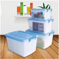 Hot Sale Plastic Storage Container with 4 Wheel