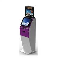 Dual Screens Self Service Kiosk with Card Dispenser
