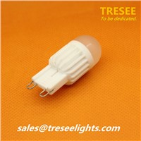 Round Ceramic G9 LED Bulb Lamp 3W 4W Epistar COB for Halogen Light Replace