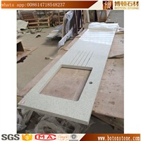 Low Price White Mirror Fleck Quartz Stone Countertop