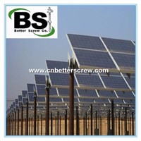 Round Shaft Helical Screw Piles/Piers/Anchors for Solar Installation