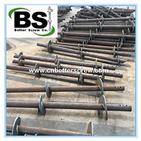 Black Steel Round Lead Helical Piers