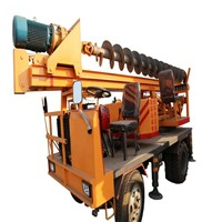 High Efficiency Four Wheel Type Pile Driver/BF-1500 15m Pile Driver