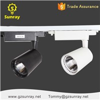 Aluminum Black/White High Brightness Dimmable LED Track Lighting 4000k 5500k 20w 30w LED Tracklight