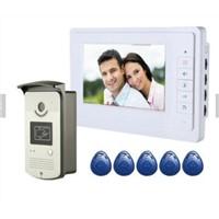 7 Inch TFT Touch Screen Video Door Phone with RFID Keyfobs Door Bell Camera