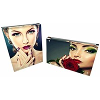 Acrylic Frame, Magnetic Picture Frame, Clear, 10 + 10MM Thickness Stand in Desk / Table