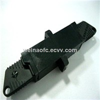 Fiber Optic Adaptor E2000-E2000 Black Plastic Housing