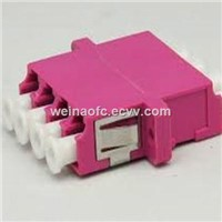 Fibre Optical Adaptor LC-LC Quad OM4 Plastic Housing