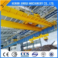 15 Ton Double Beam Bridge Crane with Magnet Lifter for Absorb Steel Scrap