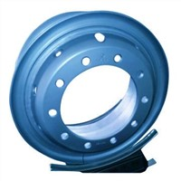 Aqua Blue OEM Truck Steel Wheel Rims for Big Commercial Vehicles Manufacturer